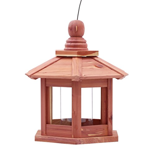 Worth Garden Cedar Feeder?Deluxe Chalet with Hexagonal Roof - Chalet Deluxe
