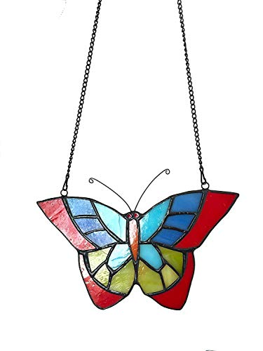 Alivagar Stained Glass Window Hangings Suncatchers Butterfly, 6