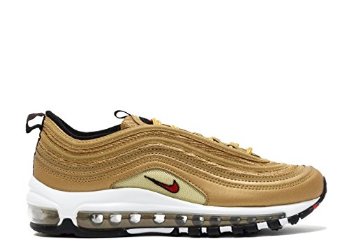 Nike Women's Wmns Air Max 97 OG QS, METALLIC GOLD/VARSITY RED Metallic Gold/Varsity Red
