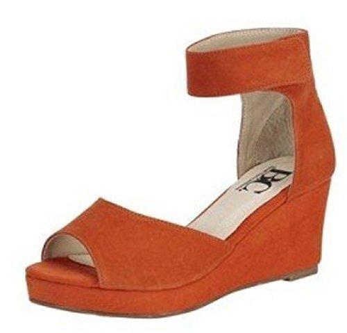 Connections pour Best Sandales femme Sandalette Orange drxSwxtP