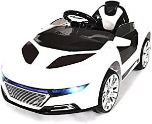 Remote Controlled Racing Audi Style Ride On Car, White [RE228-W]