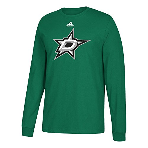 Nhl Dallas Stars Adult Unisex Primary Logo Stand Out L S Tee  Medium  Kelly