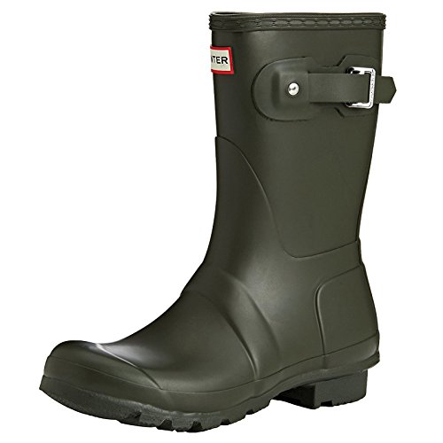 Hunter Women's Original Short Rain Boots Dark Olive 7 M US by Hunter