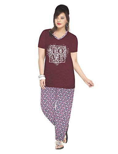 2792425707 3 Star Womens Cotton Stylish Night Suit: Amazon.in: Clothing ...