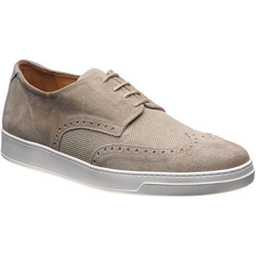 Herring 136786655 - Zapatos de Cordones de Ante Para Hombre Beige Suede and Canvas