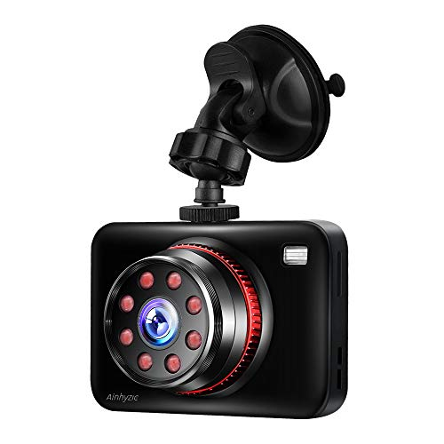 - Dash Camera for Car Driving Recorder Full HD 1080P Resolution 170 Super Wide Angle Infrared Night Vision Parking Monitor Motion Detection G-Sensor Emergency Accident Lock Car Accident Camera