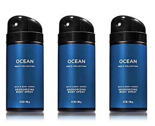 Bath and Body Works Ocean Men's Deodorizing Body Spray, 3.7 Oz, 3-Pack