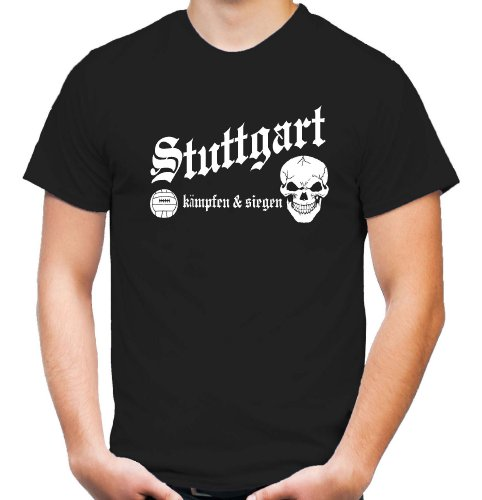 Stuttgart kämpfen & siegen T-Shirt | Fussball | Ultras | Männer | Herren | Hemd | Schwaben | Hauptstadt | Fanshirt | Trikot | M1