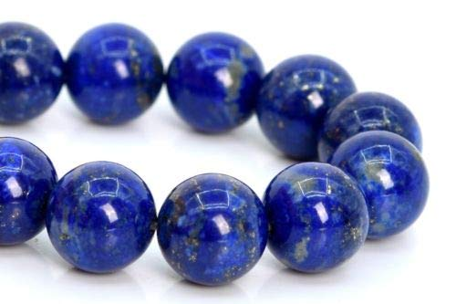 10mm Genuine Natural Deep Blue Lapis Lazuli Beads Afghanistan Round Bead 7.5'' Crafting Key Chain Bracelet Necklace Jewelry Accessories ()
