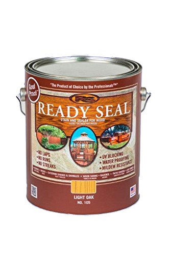 Ready Seal 105 1-Gallon Can Light Oak Exterior Wood Stain and (Natural Oak Wood)