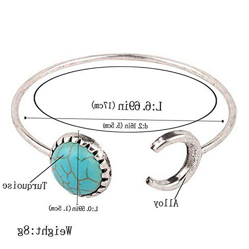 - Monowi Wholesale Fashion Women Turquoise Cuff Charm Bangle Bracelet Earrings Jewelry | Model ERRNGS - 18448 |