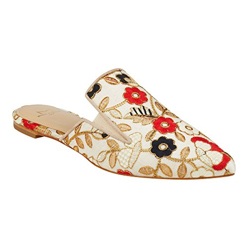 Marc Fisher Womens Shiloh4 Fabric Pointed Toe Slide Flats Natural Multi Fabric ONU52hQvfy