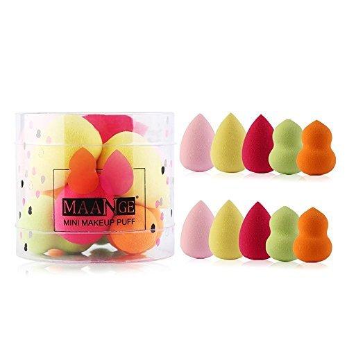Apr.Fairy 10pcs Mini Makeup Sponges Multi Color Make Up Puff Foundation Blending Blush Concealer Beauty Sponge Blender Set for Liquid Cream Powder Cosmetics - Mini Sponges