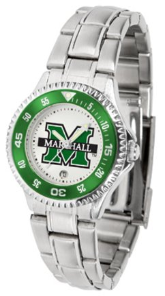 (SunTime Marshall Thundering Herd Competitor Ladies Watch with Steel Band)
