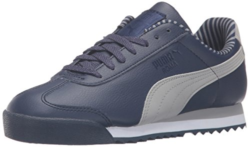 PUMA Roma Citi Series JR Sneaker (Little Kid/Big Kid), Peacoat/Drizzle, 5.5 M US Big Kid by PUMA (Image #1)