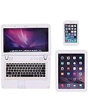 MIORIO 3 st mini laptop surfplatta smart telefondator för 1/6 1/12 miniatyrer dockhus