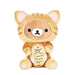 Rilakkuma Plush | Tiger Costume With Fish | San-X Plushy 6