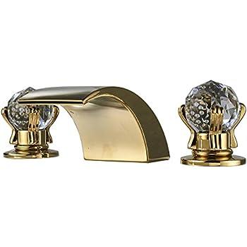Homili Widespread Waterfall Bathroom Sink Faucet 3-Piece ...