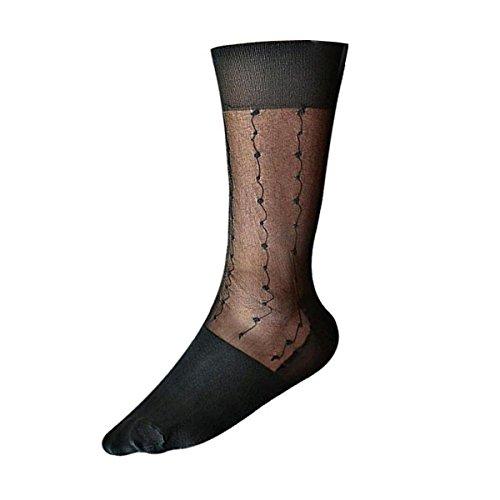 Cityelf Men's Sheer Jacquard New Cold Thin Summer Sock