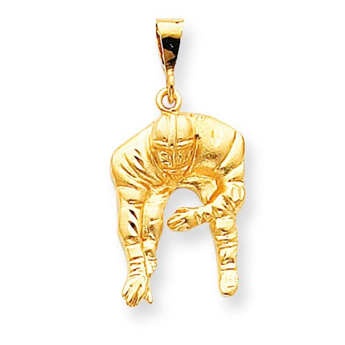 10K Gold Football Player Charm Sports FindingKing