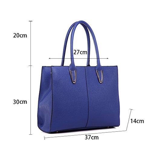 LeahWard® Damen Groß Mode Essener Berühmtheit Tragetaschen Damen Qualität Schnell verkaufend Modisch Handtaschen CWS00319B CWS00319C CWS00319 dunkel blau Groß Tragetasche fX4dAmhlle