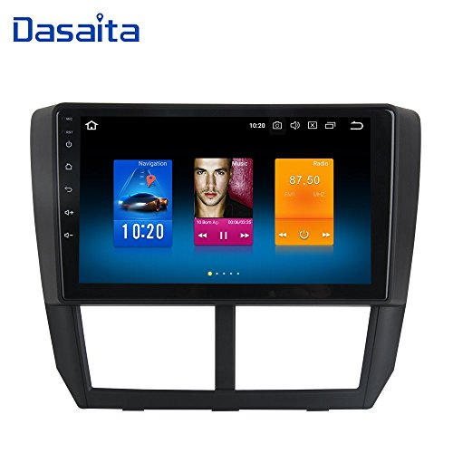 Dasaita Android 8.0 Car Stereo for Subaru Forester Stereo 2008 2009 2010 2011 2012 Head Unit in-Dash Octa Core 4GB RAM 32GB GPS Navigation (Free 8G Card&Update) For Sale