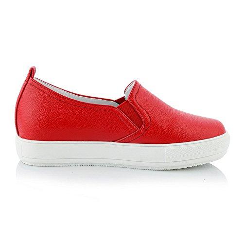Plate-forme Balamasa Femmes Non-fermeture Solide Uréthane Chaussures De Marche Rouge