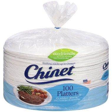 (Chinet Classic White 12-5/8 x 10