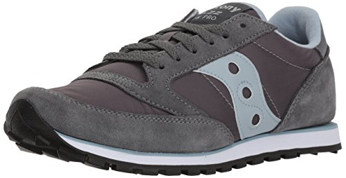 Saucony Originals Women's Jazz Low Pro Fashion Sneaker,Grey/Blue,7.5 M US