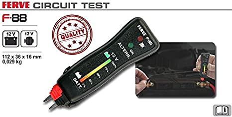 Ferve - Battery and Alternator Tester 12V F88, Color 0 ...