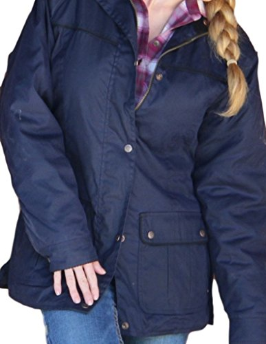 Lightweight Oilskin - Outback Trading Women's Jill-A-Roo Oilskin Jacket, Black - Medium