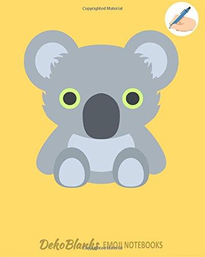 Emoji Notebooks: Koala Emoji Back To School Notebooks for Writing Drawing Journaling Doodling Unlined Unruled Composition Notebook