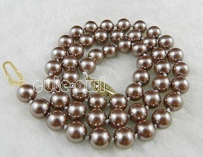 KGP Champagne South Sea Shell Pearl Necklace 18