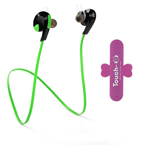 LG G Stylo (CDMA), Premium [New Version] Genuine Bluetooth H7 Wireless Headset, Headphone, W/ Mic Lightweight Sweatproof, Sport Handsfree, Gym, Running (PLUS FREE Phone Holder) GREEN