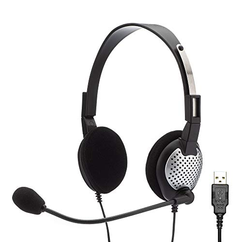 - Andrea Communications NC-181VM USB On-Ear Monaural Computer Headset, Noise-Canceling Microphone, in-Line Volume/Mute Controls, and Built-in External Sound Card with USB Plug
