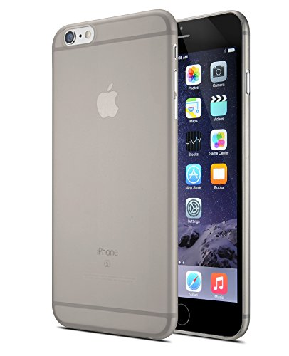 TOZO I2211 0.35mm Ultra-Thin Lightweight Hard Protect Back Cover Bumper Semi-transparent for iPhone 6S Plus / 6 Plus 5.5 inch - Matte Black