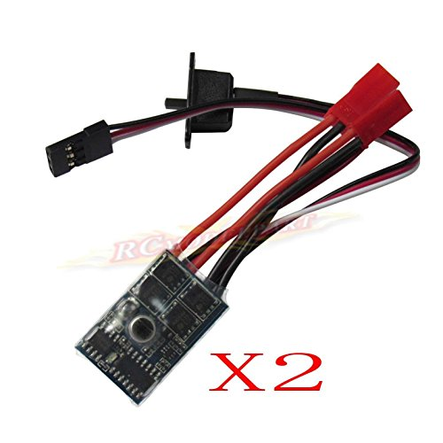 powerday RC ESC 10A Brushed Motor Speed Controller for RC Car Boat Tank with Brake This ESC can work with 130/180/260/280/380 Brushed Motor(2pcs)