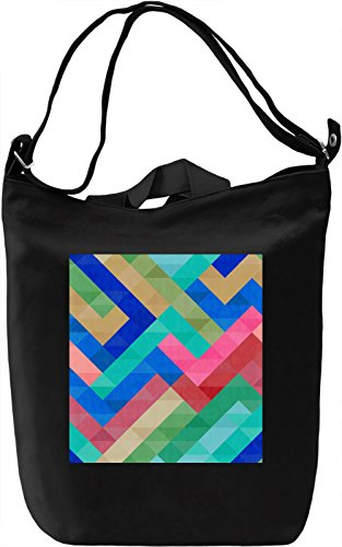 Colorful Print Borsa Giornaliera Canvas Canvas Day Bag| 100% Premium Cotton Canvas| DTG Printing|
