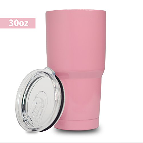 5 Star Stuff 30 oz Tumbler, 100% Stainless Steel Double Wall Vacuum Insulated Cup with Lid – Pink
