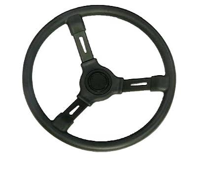 "Woqi WH001 Regular 3 Spoke Marine Plastic Steering Wheel in 13 1/2"" Diameter"
