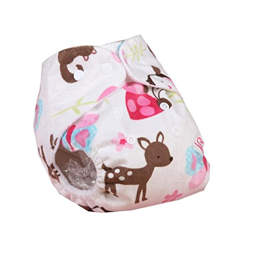 Iuhan® Lovely Baby Adjustable Reusable Washable Cloth Diaper Nappy (White) (Grovia Package Deals compare prices)