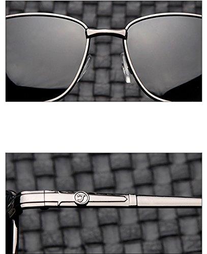 Gafas de rayos para A de sol sol contra A hombre QQB gafas polarizadas sol hombre cuadradas Color Gafas para UV los Gafas Gafas de HI0Oq6w