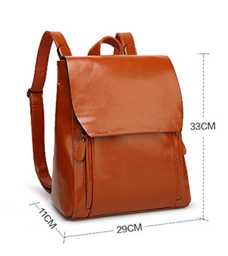 Black Scuola Zaino Ladies Fashion Studente Leather Da PU XZWNB Borsa Per Backpack P7FUqPOx
