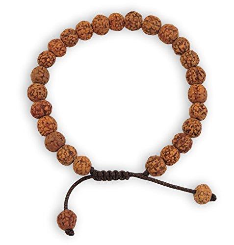 Tibetan Mala Rudraksha Wrist Mala/ Bracelet for Meditation (Plain)