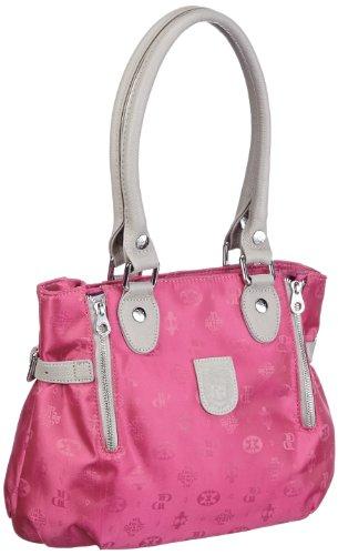 Poodlebags Club - Attrazione - Napoli - 3CL0313NAPOP, Damen Henkeltaschen 30x26x12 cm (B x H x T) Pink (Pink)