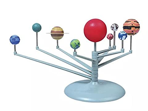 DIY 3D Simulation Solar System Nine planets Scale Model Science Learning Eductional Toys The Nine Planets Planetarium Teaching model