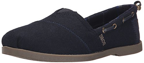 BOBS from Skechers Women's Chill Luxe Shoe, Navy Wool, 7.5 M US by Skechers
