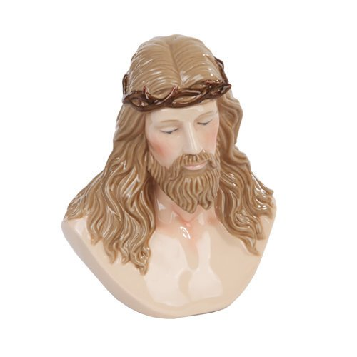 PTC 5.13 Inch Jesus Crown of Thorns Fine Porcelain Bust Figurine