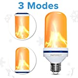 LED Flame Effect Light Bulb - 2018 Upgrade Upside Down Flickering Simulated Fire Bulb Vintage Decorative Lighting For Halloween Home/Hotel/Bar Party Decoration (1 pack/1 Mode: Flicker Only)