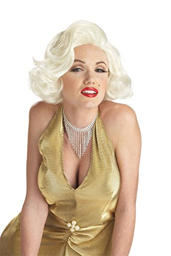 [Mememall Fashion Women Sexy Classic Marilyn Monroe Adult Costume Wig] (Marilyn Monroe Deluxe Adult Costumes)